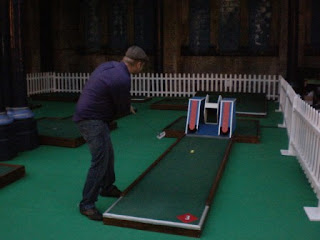 Indoor Crazy Golf course at Alexandra Palace in London