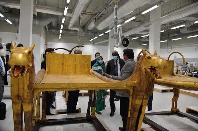 رئيس مفوضية الاتحاد الإفريقي والوفد المرافق يزور اليوم المتحف المصري الكبير