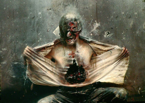 Olivier de Sagazan, Macabre Art, Macabre Paintings, Horror Paintings, Freak Art, Freak Paintings, Horror Picture, Terror Pictures