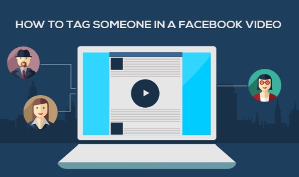 how to tag someone on facebook video