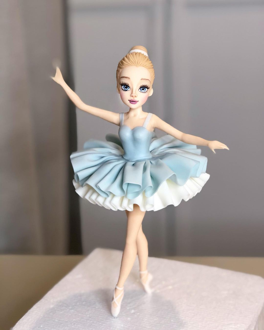 Blue doll cake
