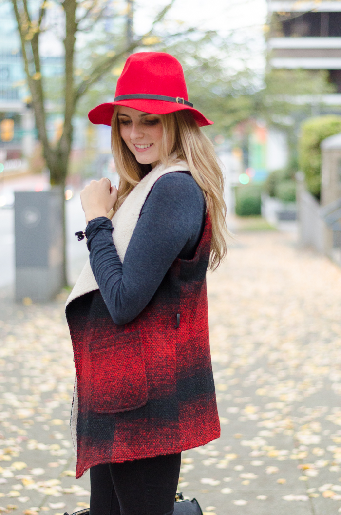 Bright Red Felt Hat
