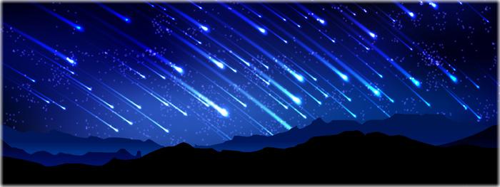 chuva de meteoros super brilhante