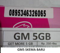 Perdana Tri Aon Get More,Paket Tri Aon Get More 5 Gb NEW SKEMA BARU
