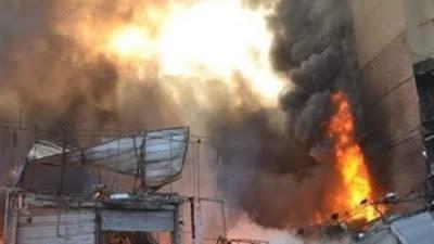 حريق وكالة البلح, محال الاقمشة, وكالة البلح,