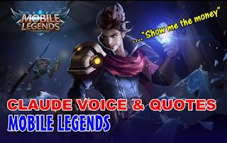 Kata-Kata Hero Claude Mobile Legends Beserta Artinya