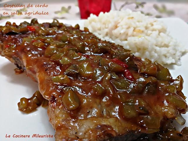 Costillas de cerdo en salsa agridulce