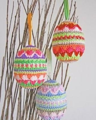 Ovos da Páscoa de Crochê