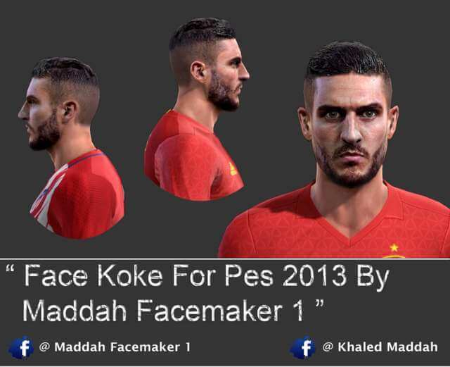 Face Koke (Atletico Madrid) PES 2013