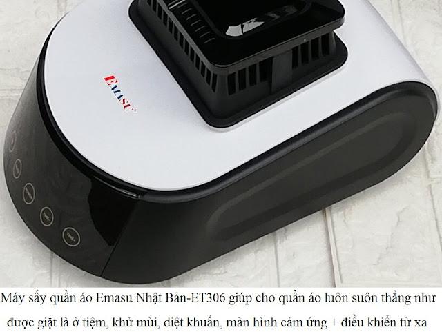 Máy sấy quần áo Emasu ET306 màn hình cảm ứng + Điều khiển từ xa