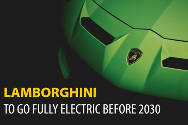 Lamborghini to Go Fully Electric Before 2030