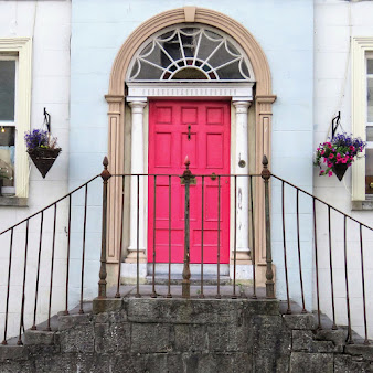 Things to do near Athlone: Pink Georgian door in Birr Ireland