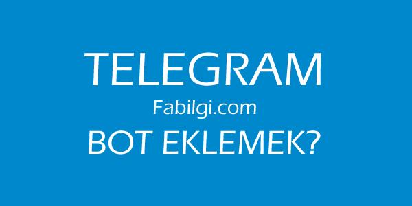 Telegram Bot Yapımı Mobil ve Bigisayar Güncel Kesin Yöntem