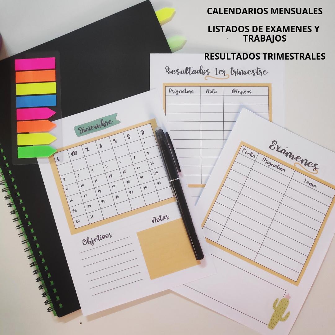 Calendario Agenda 2020 Para Imprimir.Agenda Escolar 2019 2020 Para Descargar E Imprimir