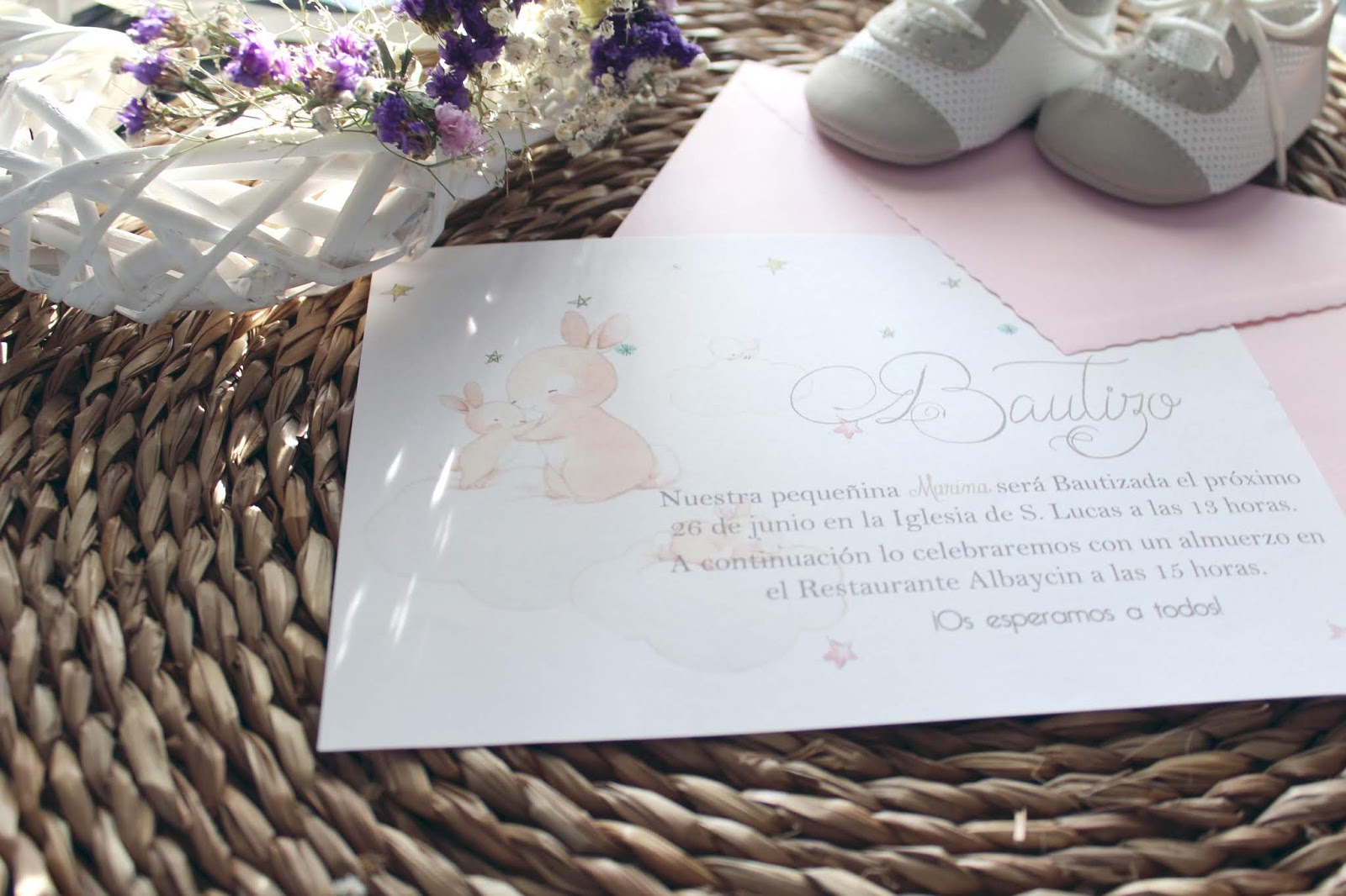 Tiernas Invitaciones de Bautizo mis secretos de boda events