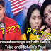 How much Raffy Tulfo in Action's estimated earnings in YouTube videos of Tekla and Michelle's issue