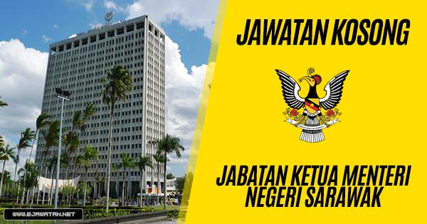 Jabatan Ketua Menteri Negeri Sarawak 22 Julai 2018 Jawatan Kosong 2020