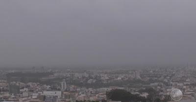 Conquista-BA: Começa a chover na cidade, previsão é de chuva forte nos próximos dias