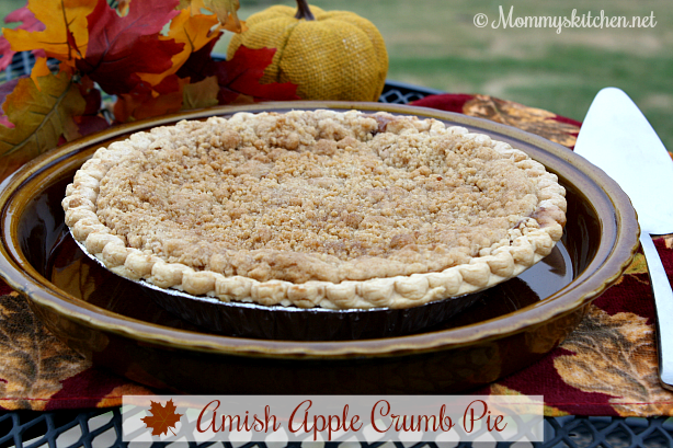 Amish Apple Crumb Pie