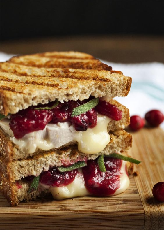 Turkey, Brie and Cranberry Mustard Panini #recipes #lunchrecipes #food #foodporn #healthy #yummy #instafood #foodie #delicious #dinner #breakfast #dessert #lunch #vegan #cake #eatclean #homemade #diet #healthyfood #cleaneating #foodstagram