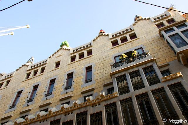 Palau Guell nel quartiere di El Raval, tra i primi edifici di Gaudì