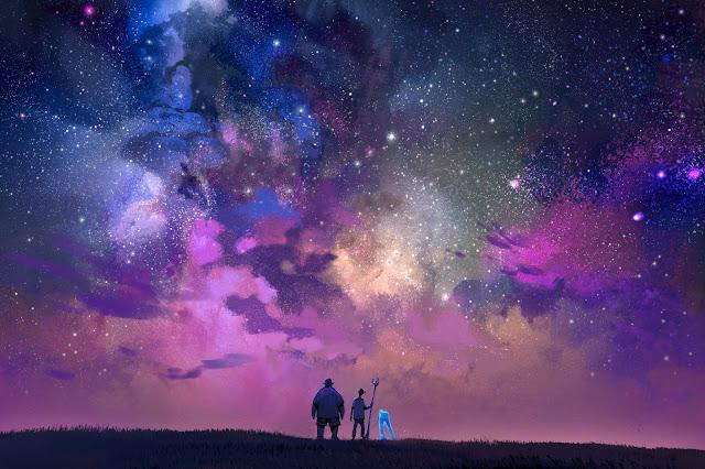 Onward Concept Artwork looking at the Galaxy