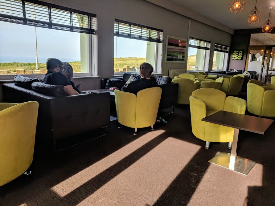 The Sands Resort Cornwall Review | A Family Hotel with Kids Club near Newquay  - lounge area