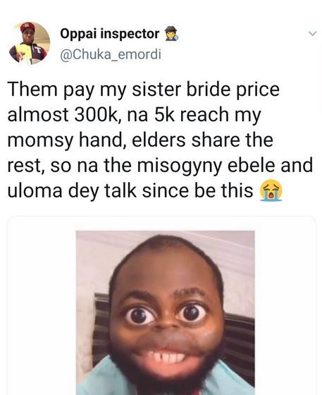 """N300k Was Paid As My Sisters Bride Price, My Mum Got Just 5k"" – Nigerian Man Cries Out"