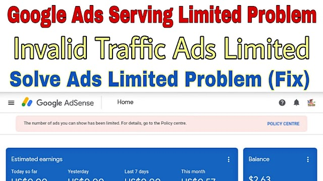 Google Adsense Ad Serving Limit Placed on your AdSense Account   Invalid Traffic Ad Serving Limited