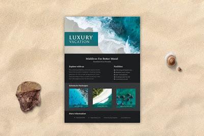 Contoh brosur wisata pantai