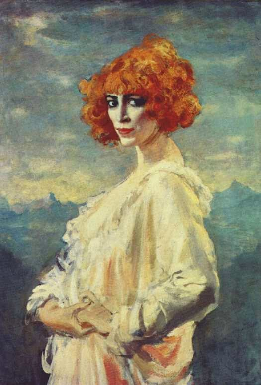 Portrait of La Marchesa Luisa Casati by Augustus John