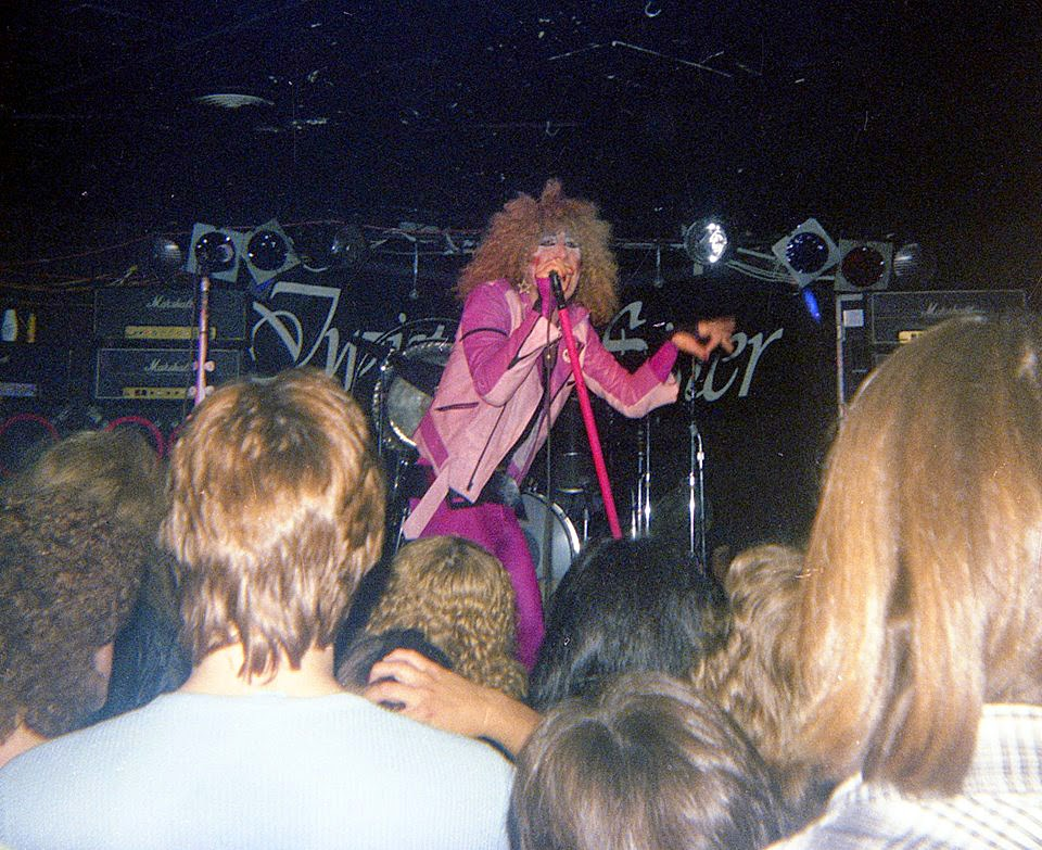 Twisted Sister on stage at Circus Circus 1979