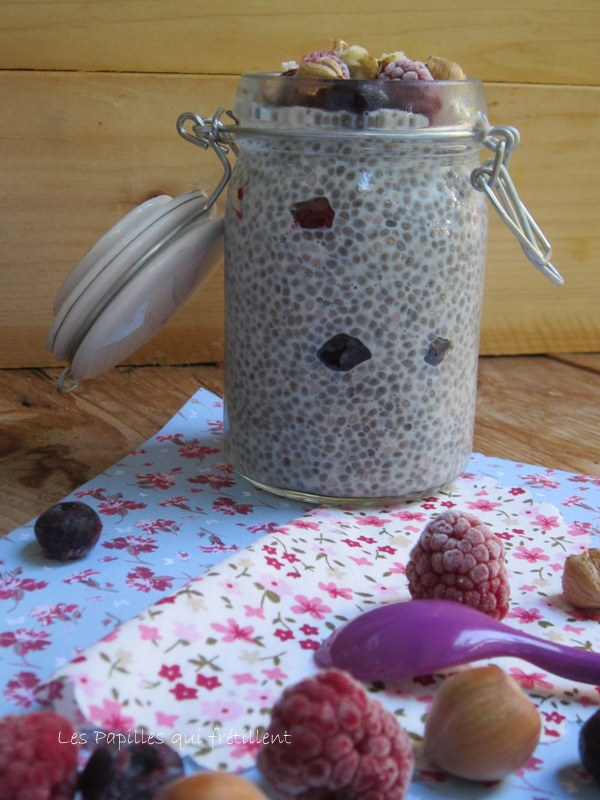 Les papilles qui fr tillent chia pudding aux fruits rouges - Graine de chia coupe faim ...