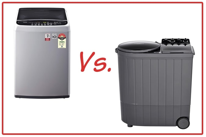 LG T65SNSF1Z (left) and Whirlpool ACE XL (right) Washing Machine Comparison.