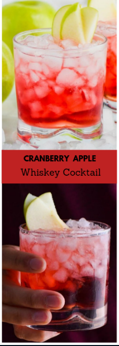 Cranberry Apple Whiskey Cocktail #drink