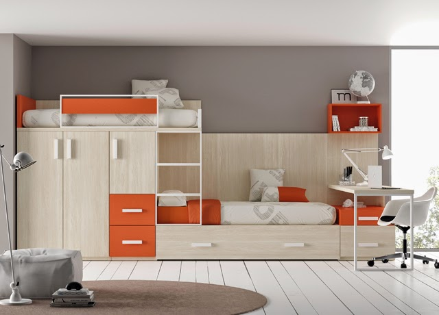 camas triples amueblar un dormitorio para tres. Black Bedroom Furniture Sets. Home Design Ideas