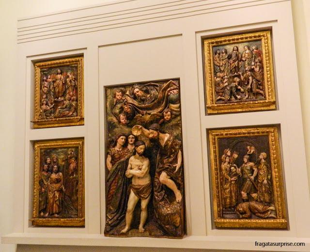 """Retábulo de São João Batista"""", no Museu de Belas Artes de Sevilha"""