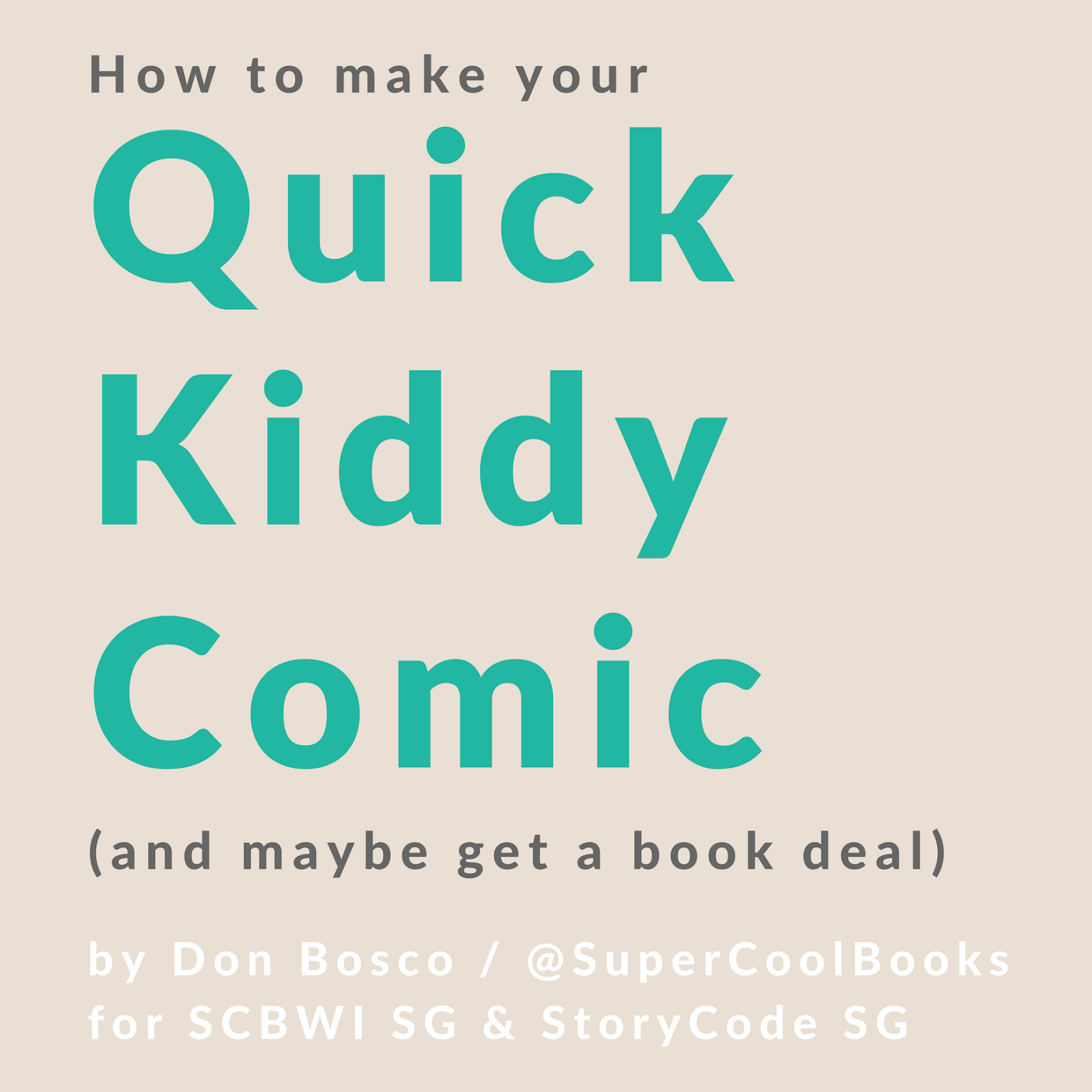 How To Make A Book Quick : Super cool books scbwi sg how to make your quick