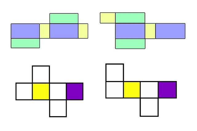 gambar jaring jaring kubus yang benar