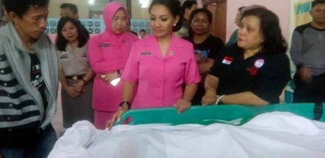 Gadis Kecil yang Dibakar Ibunya Meninggal, Jenazahnya Dibawa ke Bitung
