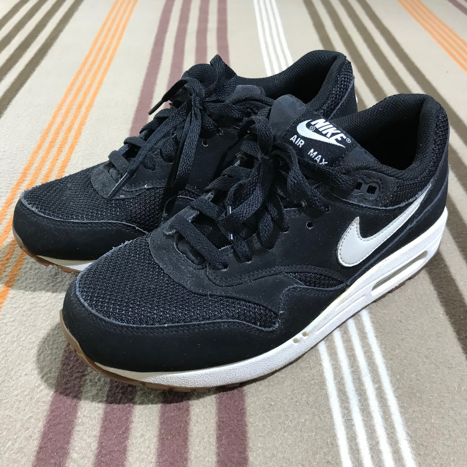 in stock 6855e 9e85e ... ireland nike air max 1 essential. brand nike air max 1 essential black  light bone