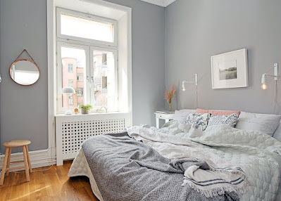 Gray color bedroom wall color
