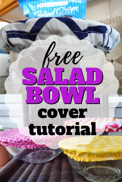 Sew your own salad bowl covers with this DIY reusable bowl covers tutorial.