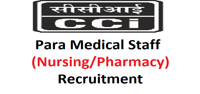 Para Medical Staff Recruitment for Government CCI 2018