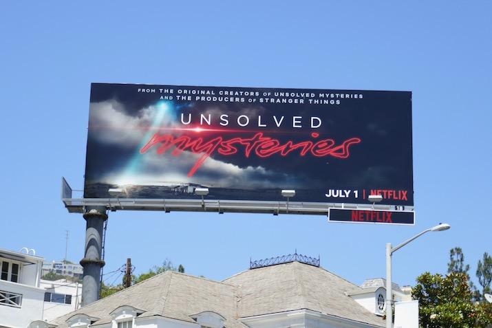 Unsolved Mysteries series premiere billboard
