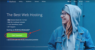 Getting a host plan from bluehost to create a blog