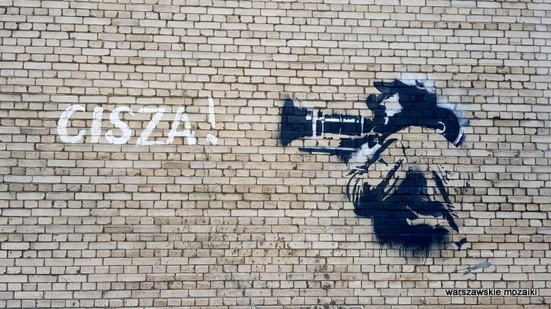 cisza mural graffiti WFDiF Warszawa Warsaw wytwórnia filmów dokumentalnych i fabularnych Mokotów wytwórnia filmowa dokument