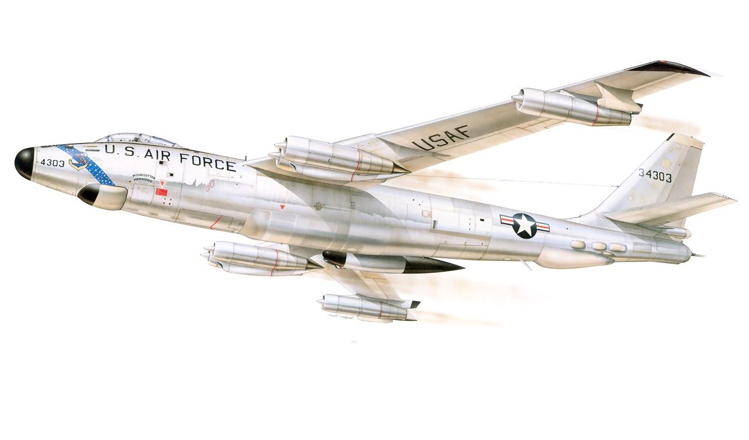 Bombardeiro estratégico Boeing B-47 Stratojet da Força Aérea dos EUA