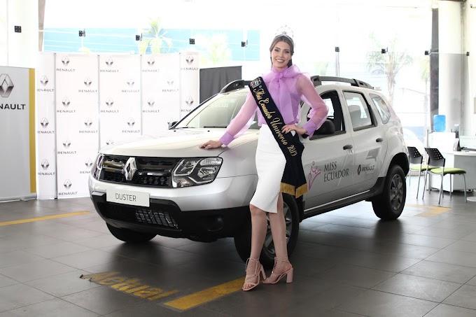 Renault entregó vehículo a Miss Ecuador 2019
