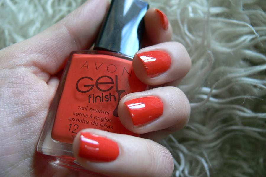 Avon Gel Finish Orange Crush swatche